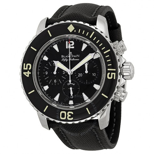 blancpain-fifty-fathoms-black-dial-flyback-chronograph-black-fabric-strap-mens-watch-5085f113052