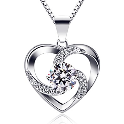 e7fbd923f Brand Name: B.Catcher; Material: Sterling Silver; Identifier: S925; Weight:  3.79g; Size: 19.6mm*15mm; Necklace: Box Chain; Stone: Cubic Zirconia, 5.5mm.